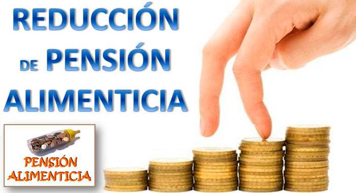 reducción pension alimenticia erte
